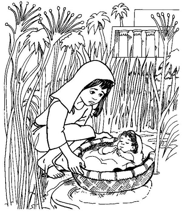 free bible coloring pages moses - tegneark for barn med bibeltegninger moses og de ti bud